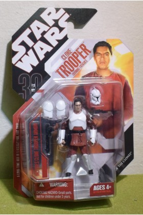 STAR WARS CARDED 30TH ANNIVERSARY CLONE TROOPER TRAINING FATIGUES ATTACK OF THE CLONES - 55