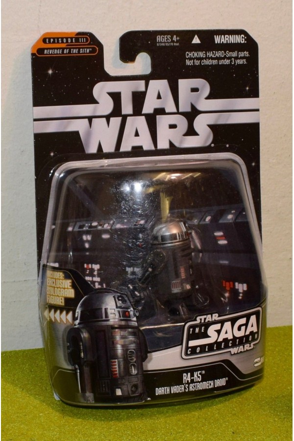 STAR WARS CARDED SAGA COLLECTION 066 R4-K5 DARTH VADER DROID REVENGE OF SITH