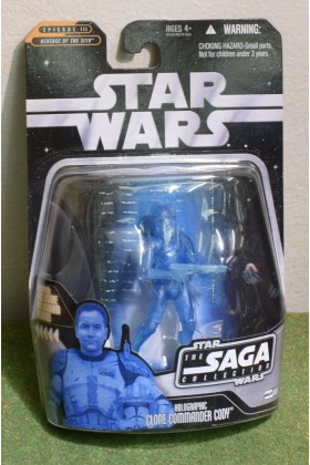 STAR WARS CARDED SAGA COLLECTION 056 HOLOGRAPHIC CLONE CODY REVENGE OF SITH