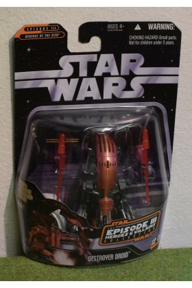 STAR WARS CARDED SAGA COLLECTION HEROS VILLAINS EPISODE III DESTROYER DROID