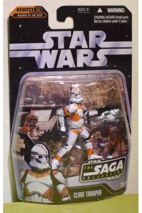 STAR WARS CARDED SAGA COLLECTION REVENGE SITH 026 CLONE TROOPER BATTLE UTAPAU