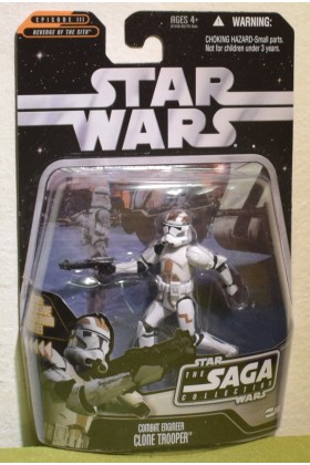 STAR WARS CARDED THE SAGA COLLECTION 068 COMBAT ENGINEER CLONE TROOPER