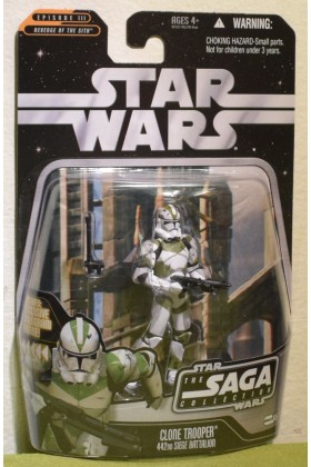 STAR WARS CARDED SAGA COLLECTION 057 CLONE TROOPER 442ND REVENGE OF THE SITH