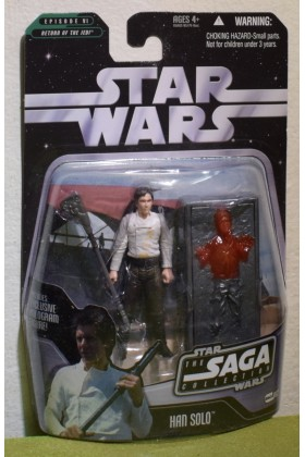 STAR WARS CARDED SAGA COLLECTION RETURN OF THE JEDI 002 HAN SOLO