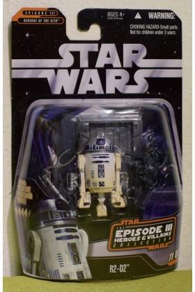 STAR WARS CARDED SAGA COLLECTION REVENGE OF THE SITH R2-D2 HEROS & VILLAINS