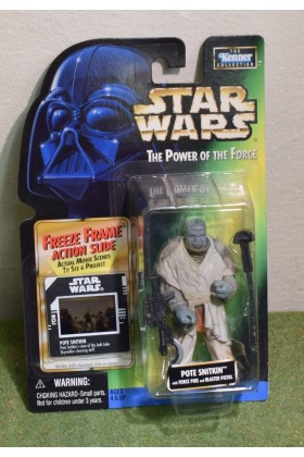 STAR WARS CARDED POWER OF THE FORCE GREEN CARD FREEZE FRAME POTE SNITKIN