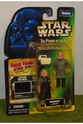 STAR WARS CARDED POWER OF THE FORCE GREEN CARD FREEZE FRAME UGNAUGHTS