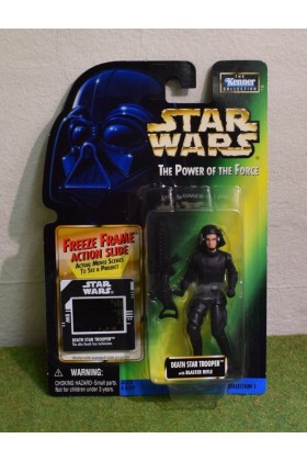STAR WARS CARDED POWER OF THE FORCE GREEN CARD FREEZE FRAME DEATH STAR TROOPER