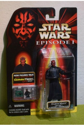 STAR WARS EPISODE I (1) PHANTOM MENACE CARDED DARTH MAUL SITH LORD w/LIGHTSABER