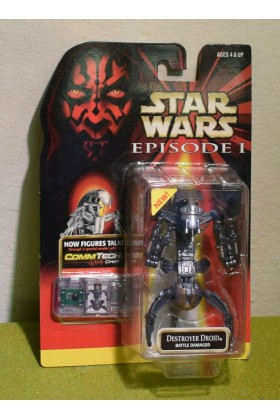 STAR WARS EPISODE I (1) PHANTOM MENACE CARDED DESTROYER DROID BATTLE DAMAGED