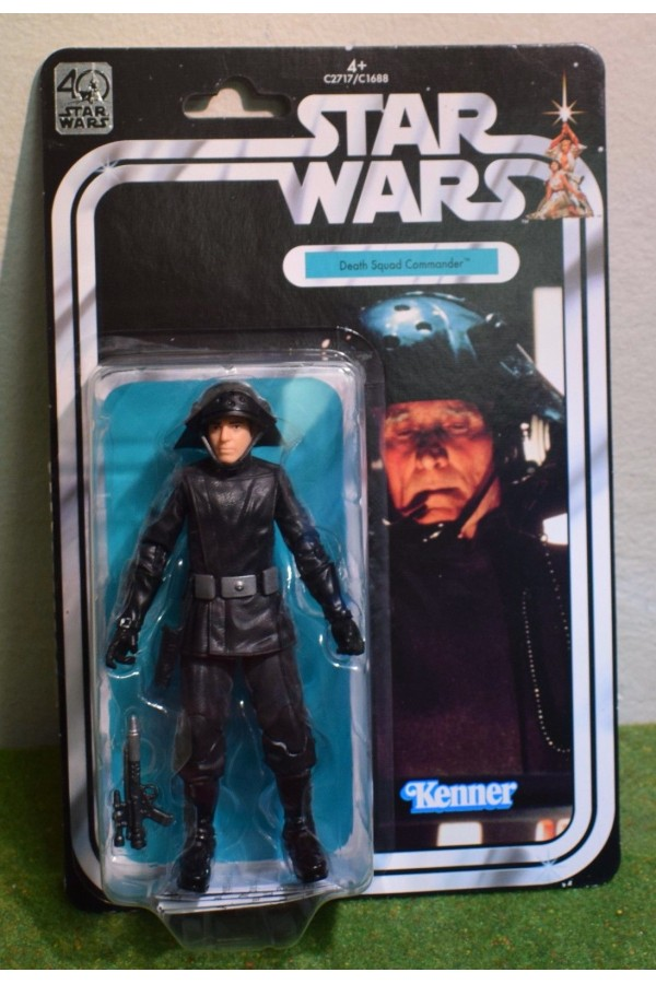 "STAR WARS BLACK SERIES 6"" INCH 40th ANNIVERSARY DEATH SQUAD COMMANDER"