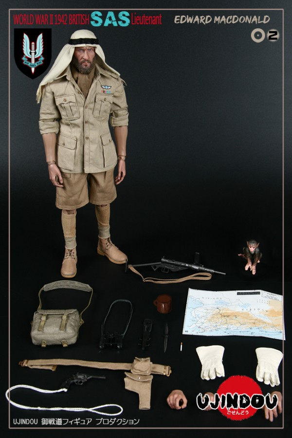 COMING SOON UJINDOU 1/6 WWII BOXED BRITISH - SAS LIEUTENANT EDWARD MACDONALD 1942