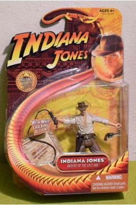 "INDIANA JONES CARDED 3.75"" RAIDERS OF THE LOST ARK INDY SHIRT WHIP HARRISON FORD"