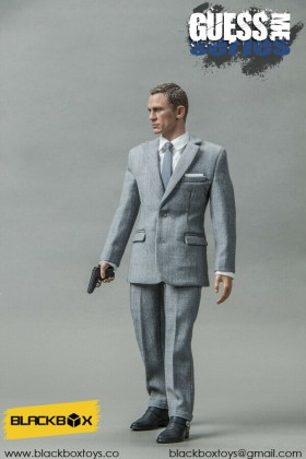 BLACKBOX TOYS - 1/6 SCALE - DANIEL CRAIG - JAMES BOND 007 - BB9002 - GREY SUIT
